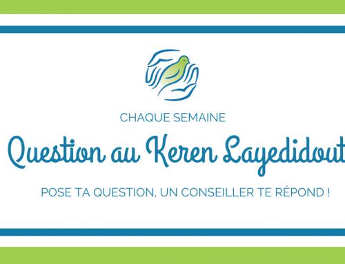 Question de le semaine : L'alya en famille avec le Keren Layedidout
