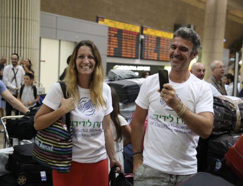 Les nouveaux Olim arrivent en israel